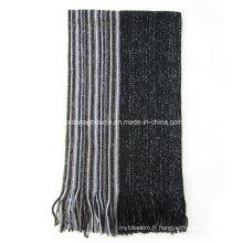 Echarpe d'hiver pour hommes, foulards en tricot
