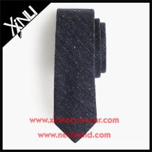Cravates anglaises en tweed de laine de soie dans la cravate fantaisie en laine de couleur unie