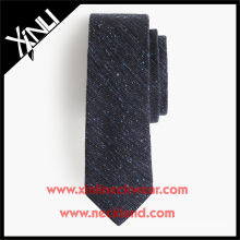 English Silk Wool Tweed Ties in Solid Color Fancy Wool Necktie