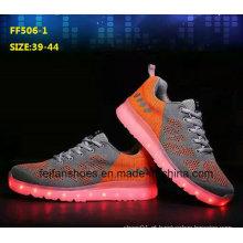 Mais recente de alta qualidade venda quente LED sapatos sapatos de desporto (ff506-5)