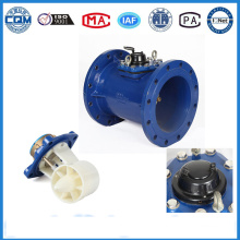 Epoxy Coated Cast Iron Material Turbine Wm Water Flow Meter