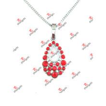 Nouveau collier de bijoux en forme de pendentif en cristal à lame rouge personnalisé (LOD60128)