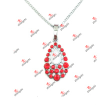 New Custom Red Crystal Tear Charms Pendant Jewelry Necklace (LOD60128)