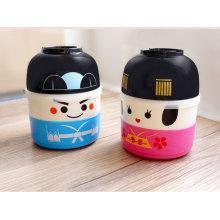 Fiambrera plástica al por mayor del bento del estilo japonés para los niños