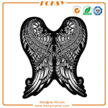 Wings embroidered patches customized for garment