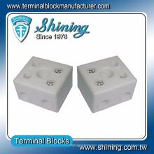 TC-652-A Hitzebeständiger 65A 2-poliger Porzellan-Video-Klemmenblock