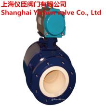 Tipo de reborde neumático del actuador Válvula de bola de cerámica