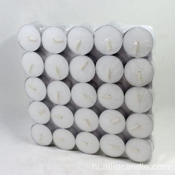 Home decor white aluminum cup tea light candle
