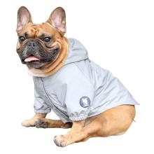 Veste à capuche imperméable légère pour chien