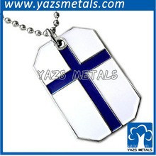 Christian smooth surface thick dog tag stainless steel