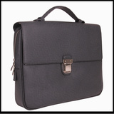 Latest design men custom leather document briefcase