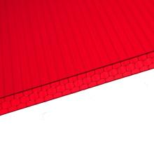 Hoja de nido de abeja de policarbonato Fabricante de hoja de múltiples muros para hojas de tejado de claraboya 10 años de garantía Hoja de PVC acrílico
