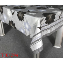 Nuevo diseño de PVC mantel estampado con forro de tela LFGB