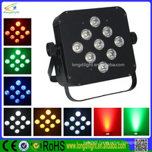 9*10W 4IN1 Quad color wireless battery powered led uplights/led flat par can