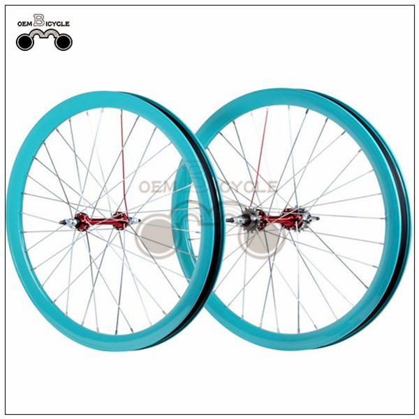 700C 40mm fix double-walled aluminum wheelset11