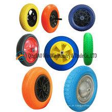 Roda da espuma do plutônio da roda dos carrinhos de mão 16X4.00-8
