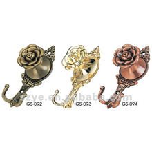 European style elegant rose shape curtain hanging hooks