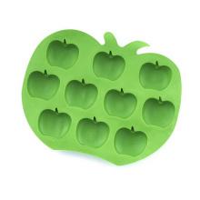 Cubo de hielo de silicona en forma de manzana