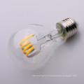 A19 A60 E27 clair ampoule filamentaire LED 6000K 8w