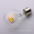 A19 A60 E27 clear soft Filament LED Bulb 6000K 8w