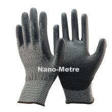 NMSAFETY Novo 18 calibre PU palmeira anti corte segurança Corte Resistente nível 3 luvas