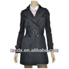 long new style black women trench coat
