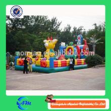 Ciudad inflable comercial inflable, juegos inflables grandes, juguetes inflables para los niños juego