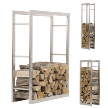 Support de stockage de bois de chauffage en métal extérieur amovible