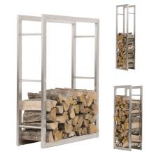 Abnehmbares Innen-Außen-Metall-Brennholz-Lagerregal