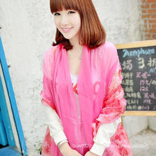 Elegant and Fashionable Women′s Scarf Shawl Autumn Pink