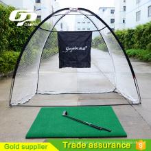Nuevo producto plegable práctica de golf de jaula de red
