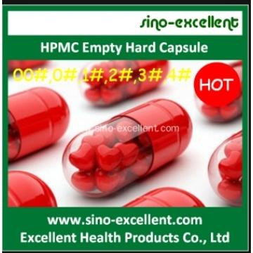 HPMC cápsula dura vacía claro y otro color