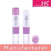 Heißes verkaufendes doppelendiges Lippenbalsamplastikrohr