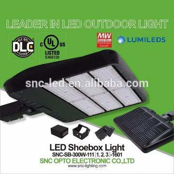 La plus chaude lampe de 300w de stationnements de LED de 2016, lumière extérieure de Shoebox de LED, cadre de Shoebox de DLC LED