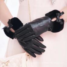 Lady Fashion Faux Pelz Manschette Schaffell Leder Kleid Handschuhe (YKY5209-2)