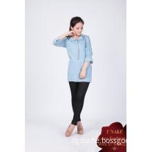 Women Classic Vintage Fashion Slim Denim Blouse Tops S131501