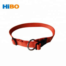 Tourbon Orange Nylon webbing Side-Release adjustable Dog collar