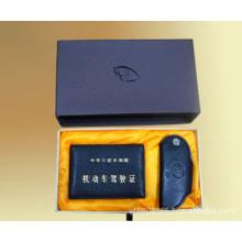 Caja de empaquetado de la llave del coche superior e inferior de lujo