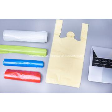 Saco de compras de plástico barato feito de fábrica