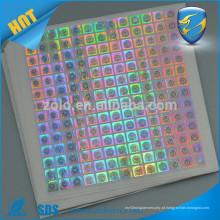 Material de PET Shenzhen ZOLO 3D holograma adesivo de embalagem de holograma 3d