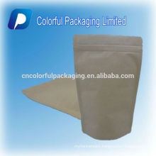 Stand up Kraft paper coffee&tea packaging pouch/bag with zipper