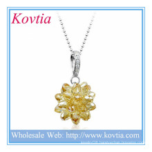 Alibaba china crystal cluster ball shape pendant