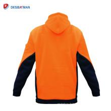 Vente chaude Hommes EN471 Classe 3 Jumper Vent Résistant & Chaud Hoodie Veste De Sécurité Manteau En Plein Air
