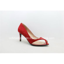 Fashion Peep Toe Leather Dress Shoes for Sexy Ladies