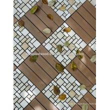 Террасная доска из ДПК плитки изготовлены из переработанного твердого древесного волокна и переработанного полиэтилена, связующего агента, добавки и подкрасить