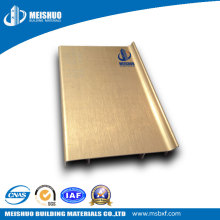 Waterproof Decorative Polished Aluminum Wall Baseboard