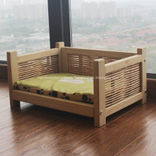 Wood Kennel Pads Pet Bed with Removable Cover