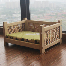 Деревянная Колодка Питомника Кровать Pet со съемной крышкой
