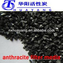 90% de carbono lavado antracita lavado filtro de medios de comunicación Venta de bajo precio del fabricante