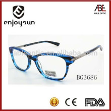 Senhora levou óculos ópticos de acetato piscante atacado China